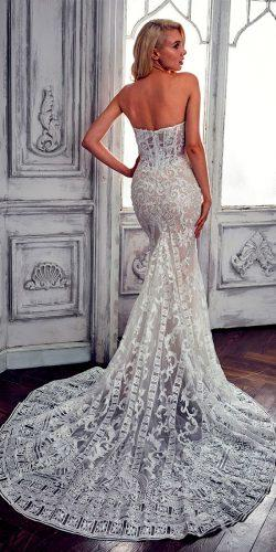 lace mermaid open back calla blanche wedding dresses
