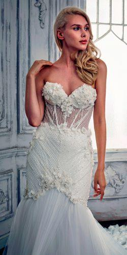 mermaid lace sweetheart neckline calla blanche wedding dresses