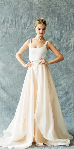 silk with low back separate wedding dresses with draped skirt carol hannah style kensington