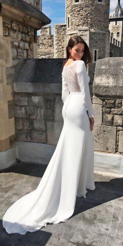 straight long sleeved casual wedding dresses suzanne neville