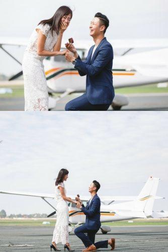 wedding proposal ideas airplane propose