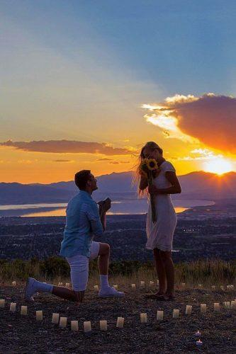 wedding proposal ideas irresistable sunset idea