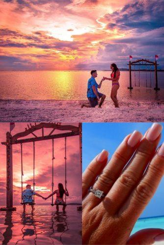 wedding proposal ideas irresistable-sunset propose near the ocean
