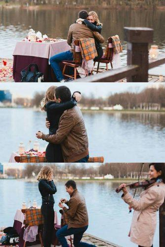 wedding proposal ideas romantci-oudoor propose near the river