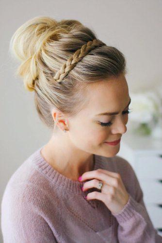 wedding updos for long hair high updo with braids missysueblog