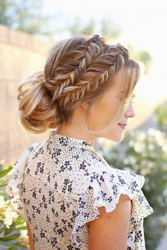 wedding updos for long hair lowbun with braid missysueblog