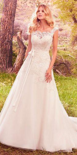 a line illusion sweetheart neck and cap sleeves maggie sottero wedding dresses 2017 style ophelia