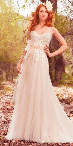 a line lace sweetheart neck with belt maggie sottero wedding dresses 2017 style harmony