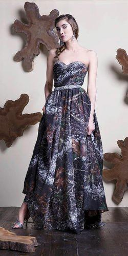 a line strapless sweetheart natural waist camo wedding dresses camo closet