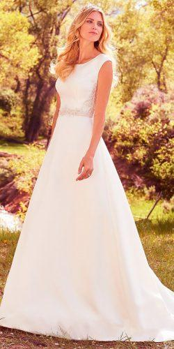 a line with modest cap sleeves and jewel neck maggie sottero wedding dresses 2017 style dayton
