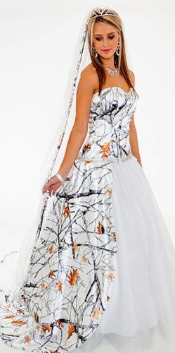 15 Camo Wedding Dresses To Hide In A Forest