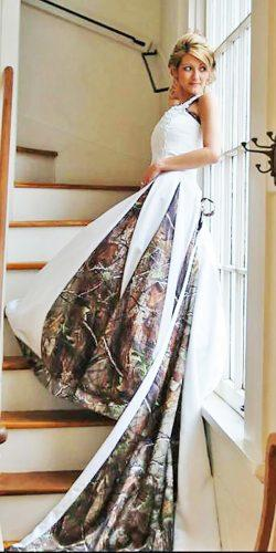 ball gown with straps camo wedding dresses camo formal