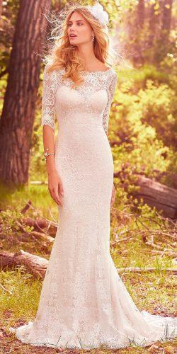 bateau neck lace with long sleeves maggie sottero wedding dresses 2017 style mckenzie
