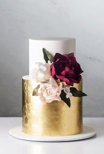 beautiful wedding cakes cake with gold cake ink