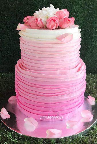 beautiful wedding cakes pink cake pandacookiss
