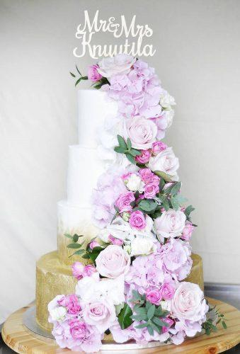 beautiful wedding cakes pink flower casacade annika.k.cakes
