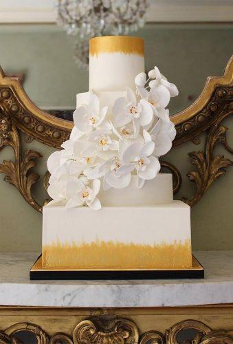 beautiful wedding cakes white modern cake cakedesignbyhollymiller