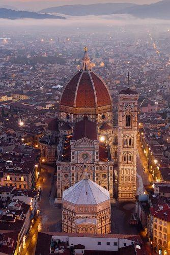 best honeymoon spots evening view florence italy