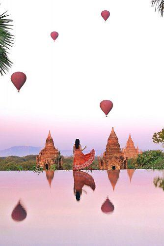 best honeymoon spots myanmar girl beautiful view