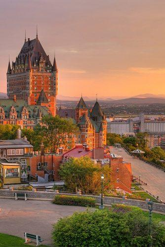 best honeymoon spots quebec city canada old city view