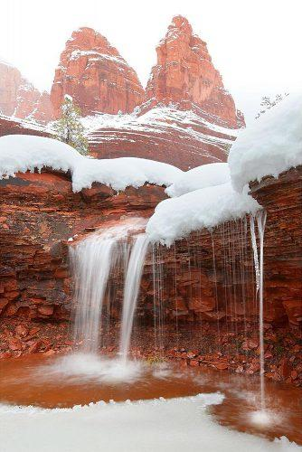 best honeymoon spots snow ice waterfall sedona arizona