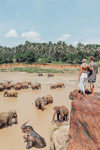 best honeymoon spots sri lanka couple elephants