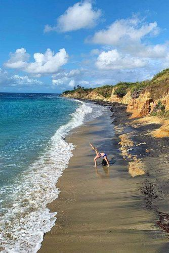 best honeymoon spots vieques island acrobatic girl at the beach