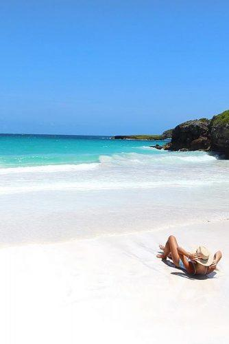 best honeymoon spots vieques island girl at the beautiful beach