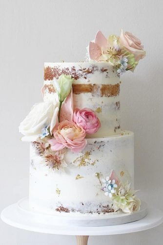 buttercream wedding cakes naked white with flowers soulcakeshop