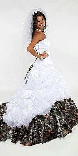 camo wedding dresses a line gown