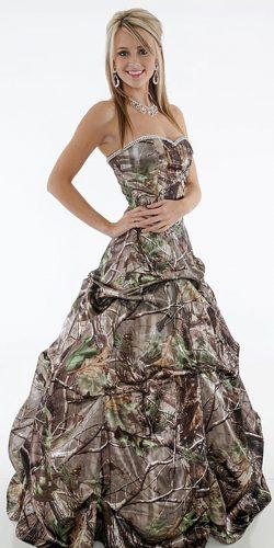 camo weddinga line gown sweetheart carrafina