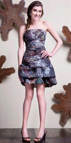 chic draped short gown camo wedding dresses kierstan correnti