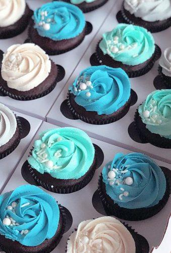 chocolate wedding cupcake blue cupcakes- cupcake_rookie