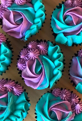 chocolate wedding cupcake blue violet cupcakes thecupcakemumma