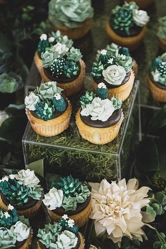 chocolate wedding cupcake succulents cupcakes
