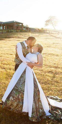 country camo wedding dresses with train camo formal
