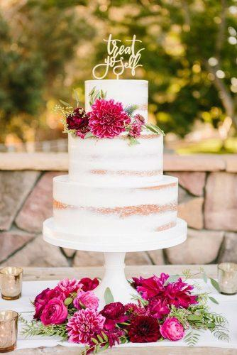 elegant wedding cakes cake in bohemian style decorated with claret flowers jodee debes photography