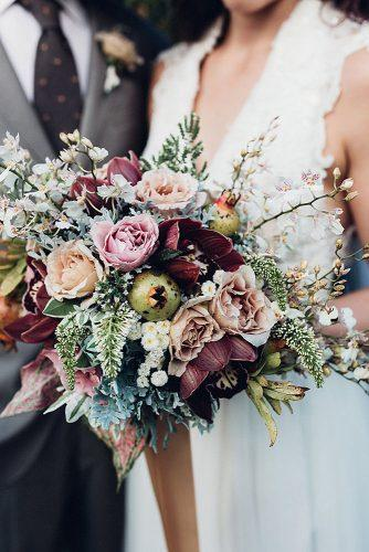 fall wedding bouquets lush with burgundy and pink flowers miss gen