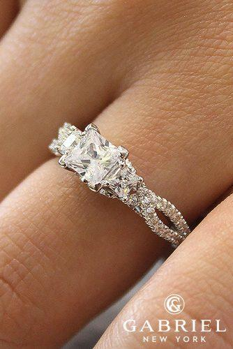 gabriel and co engagement rings ER12663S3W44JJ ambrosia white gold princess cut diamond engagement rings