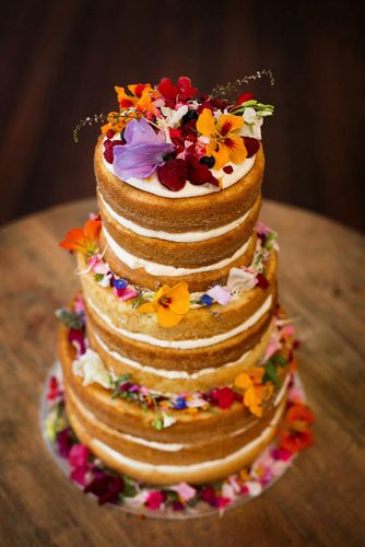 italian wedding cakes high naked decorated with flowers kirralee ashworth