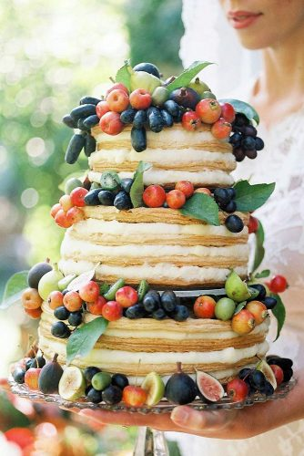 italian wedding cakes naked grapes decorated in fruit with apples in the hands of the bride kelli walker via instagram
