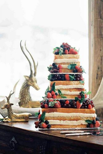 italian wedding cakes naked square with berries omalley photographers