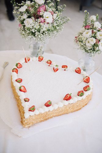 italian wedding cakes white heart shaped decorated with strawberries married to my camera