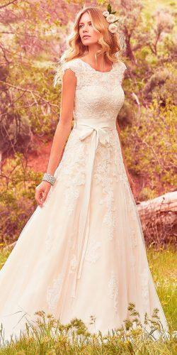 lace a line jewel neck with belt maggie sottero wedding- dresses 2017 style lindsey marie