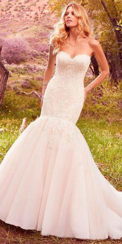 mermaid lace beaded bodice strapless sweetheart maggie sottero wedding dresses 2017 style keely