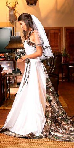 halter a line camo wedding dresses realtree