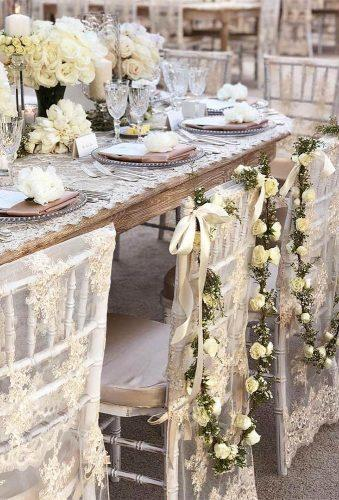 shabby chic vintage wedding decor ideas lace vintage chairs RevelryEventDesign