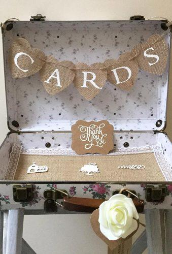 shabby chic vintage wedding decor ideas vintage card box cobhambunting