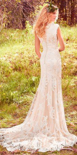 sheath lace jewel neck with cap sleeves maggie sottero wedding dresses 2017 style elsa