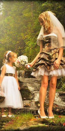 short strapless sweetheart camo wedding dresses with layered skirt camo formal